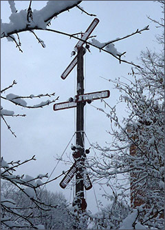 Der Telegraph im Winter